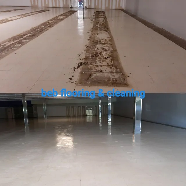 commercial tile cleaning Before and After in wake forest nc