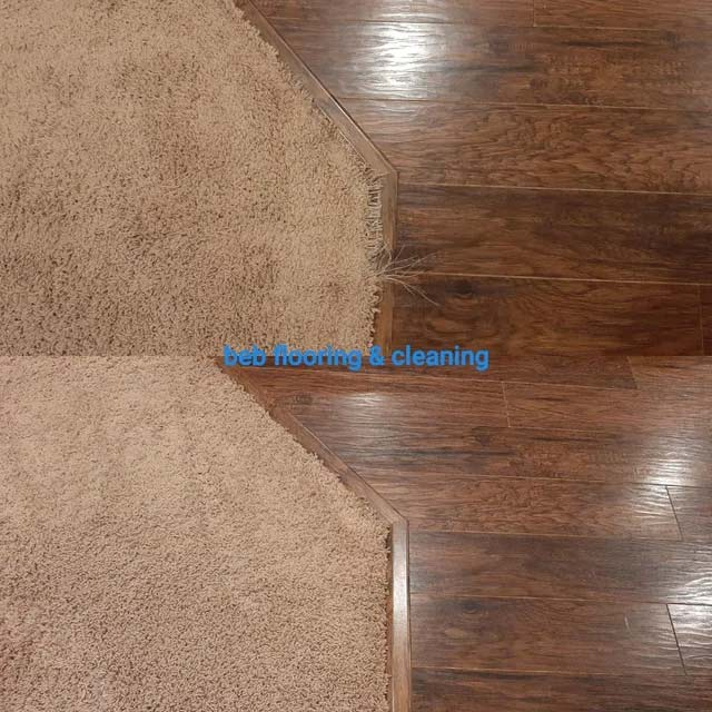 Carpet repair before and after in apex, nc