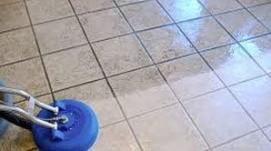 Tile and grout cleaning in progress in Raleigh NC